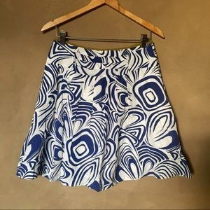 CAbi blue cotton skirt